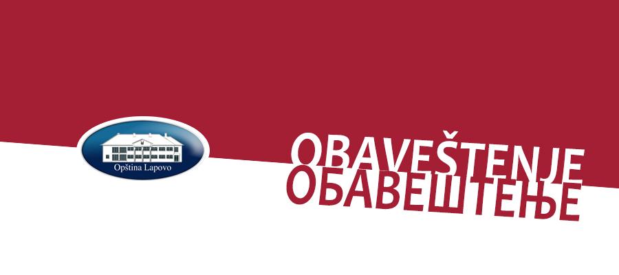 OБАВЕШТЕЊЕ О НОВИМ МЕРАМА ВЛАДЕ СРБИЈЕ У ЦИЉУ СПРЕЧАВАЊА ШИРЕЊА COVID - 19